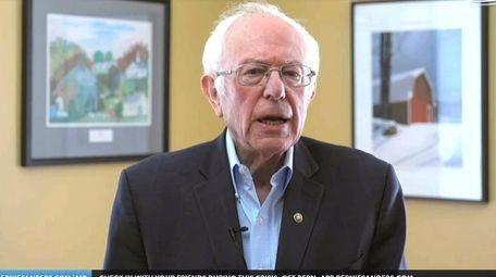Sen. Bernie Sanders, I-Vt. announces he is ending