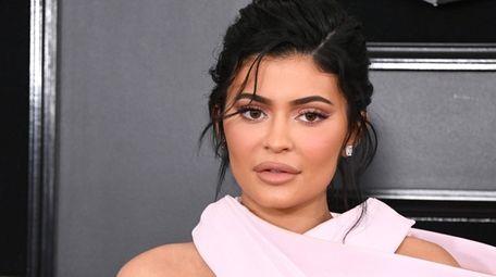 Kylie Jenner attends the Grammy Awards on Feb.