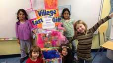 Students from kindergarten to the second grade decorated