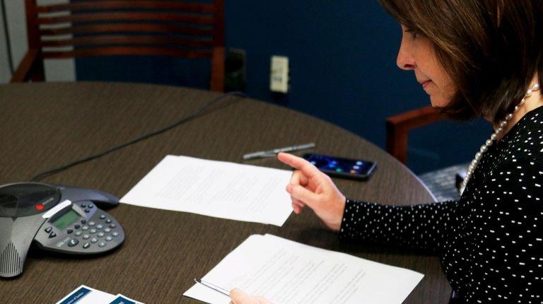 Suffolk County Police Commissioner Geraldine Hart testifies
