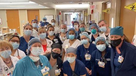 A group of nurses at Mount Sinai South