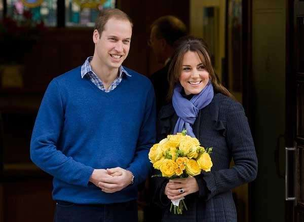 Prince William and Kate Middleton as they leave