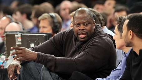 Patrick Ewing attends the game between the Knicks