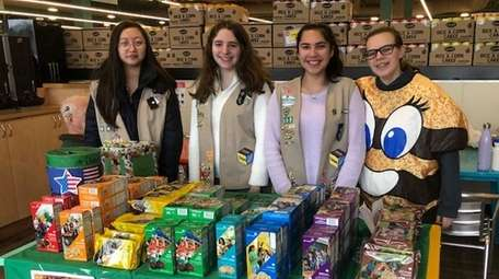 Members of Girl Scout Troop 3095, which is