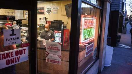 Vinny Canizio, owner of Gino's Pizza in Patchogue,