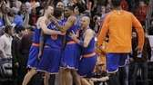 Jason Kidd, right, James White, Steve Novak, left,