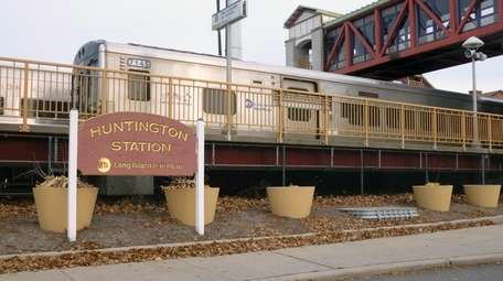 The Huntington Station LIRR station on Nov. 23,