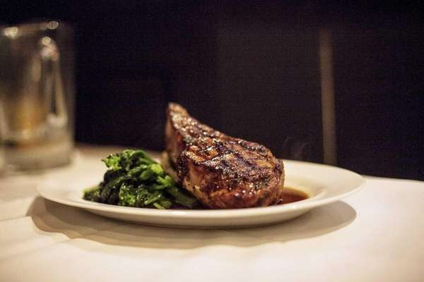 Among the expertly grilled steaks and chops is
