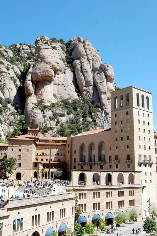 The rock pillars of Montserrat are home to