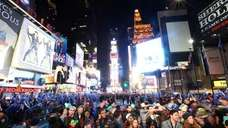 New Year's Eve in Times Square last year.