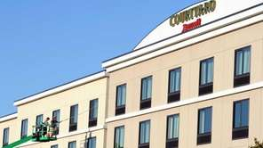 The Marriott Courtyard in Farmingdale, above, and the