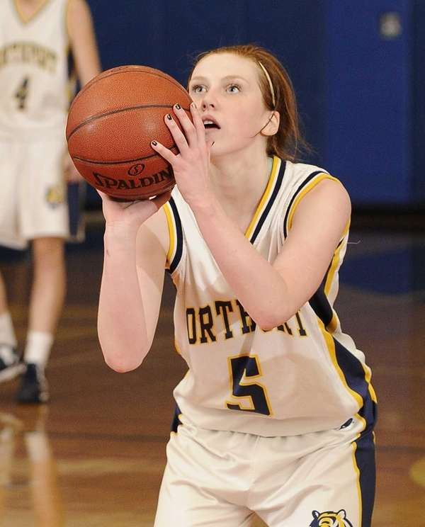 Northport guard Lizzie Atkinson shoots a free throw