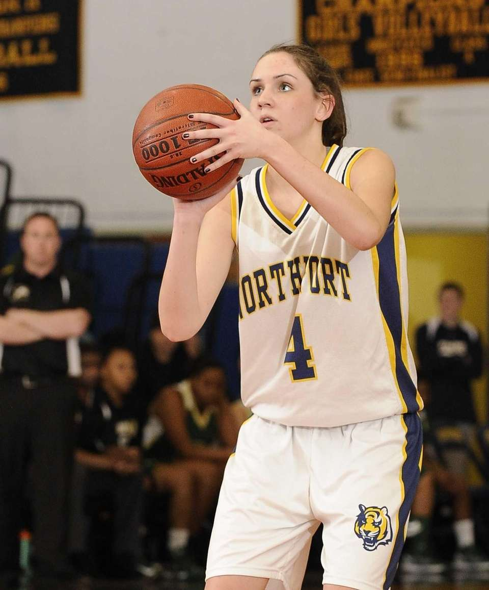 Northport's Kristin Cleary shoots a free throw against