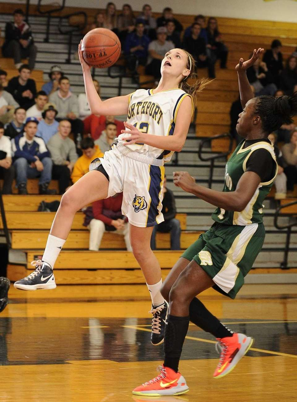 Northport guard Allie Pavinelli scores on a layup