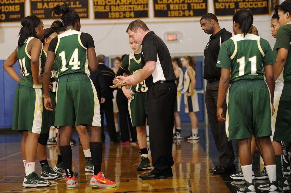 Longwood head coach James Castiglione directs his team
