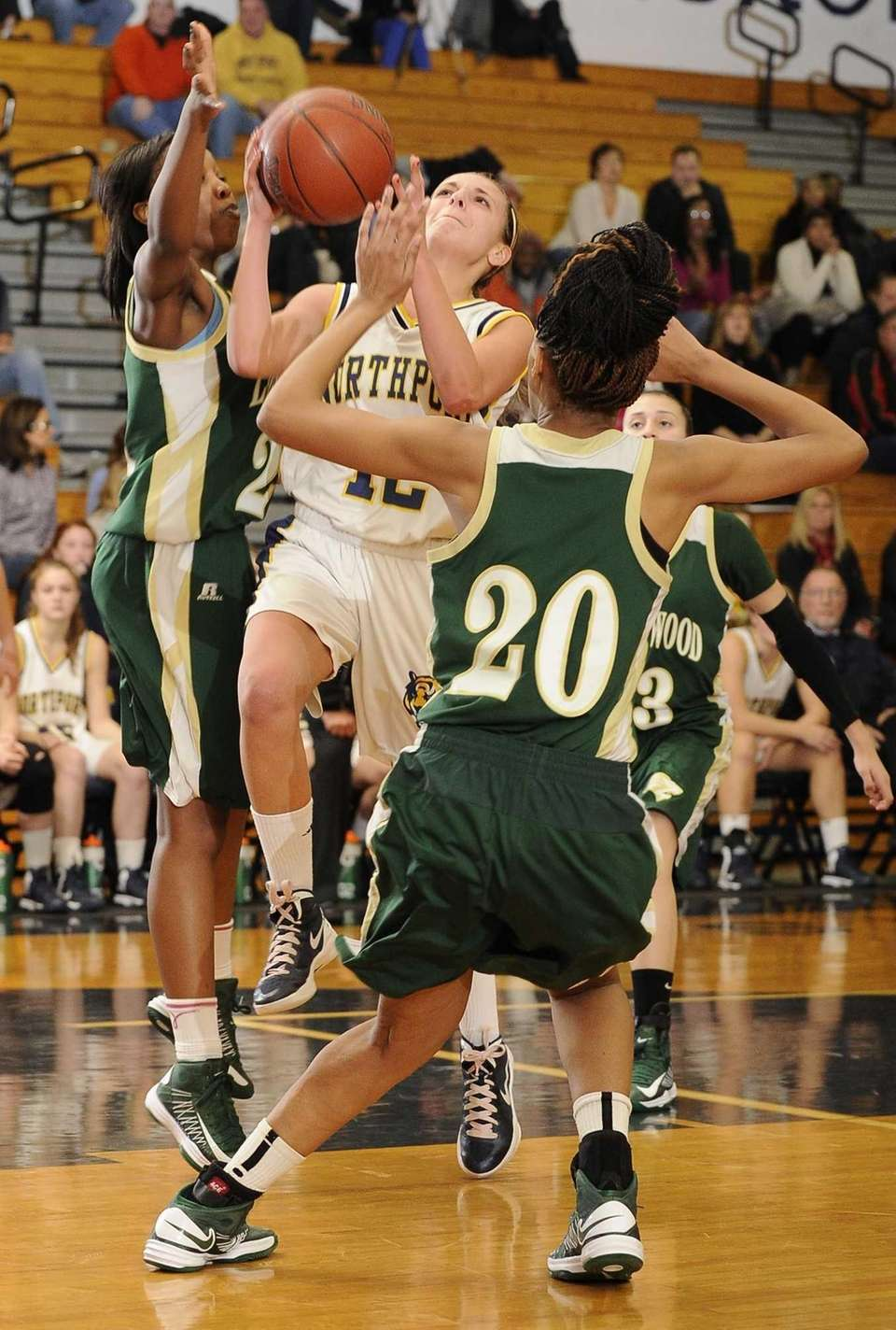 Northport guard Allie Pavinelli draws a foul in