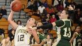 Northport guard Allie Pavinelli is fouled by Longwood's