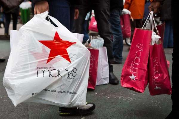 Shoppers flood Manhattan stores such as Macy's for