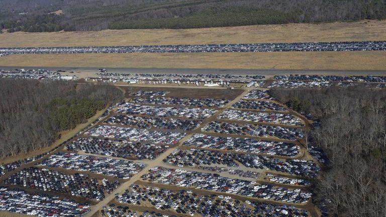 Cars at Calverton, Long Island. (Dec. 14, 2012)