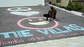 Residents at The Villas in Melville drew messages
