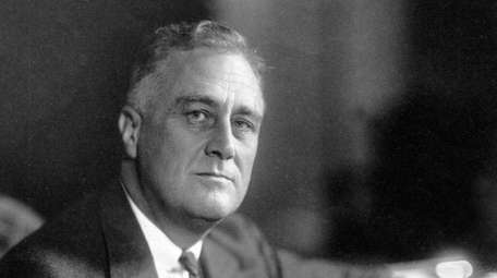 Franklin D. Roosevelt during his 1932 Presidential campaign.
