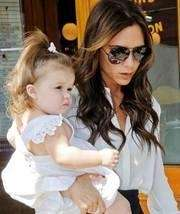 Victoria Beckham with her daughter Harper.