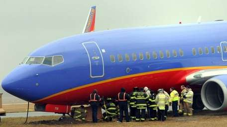 The Southwest Airlines Boeing 737 that got stuck