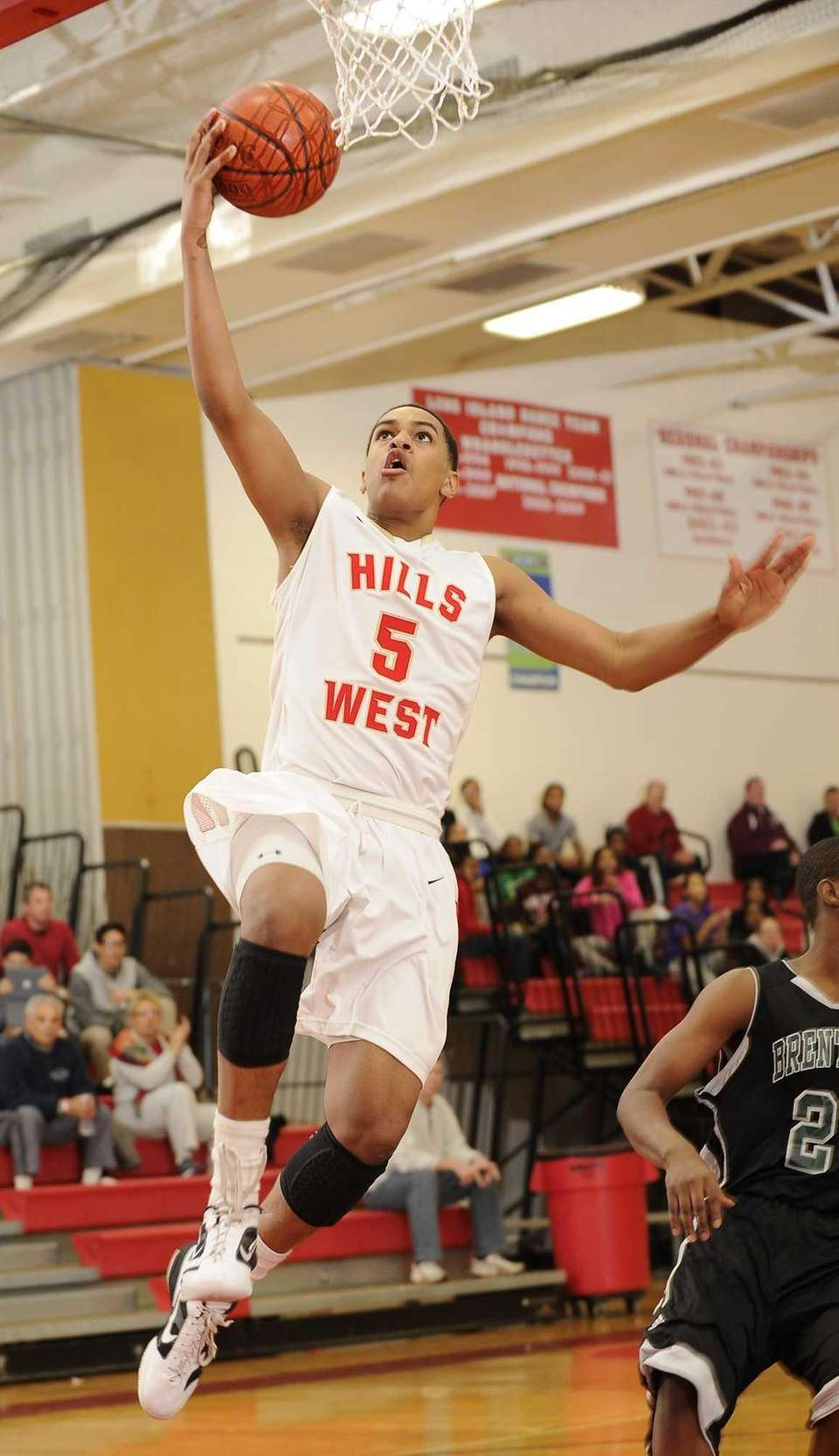 Half Hollow Hills West forward Terry Harris shoots
