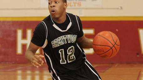 Brentwood's Marcus Cureton controls the ball again Half