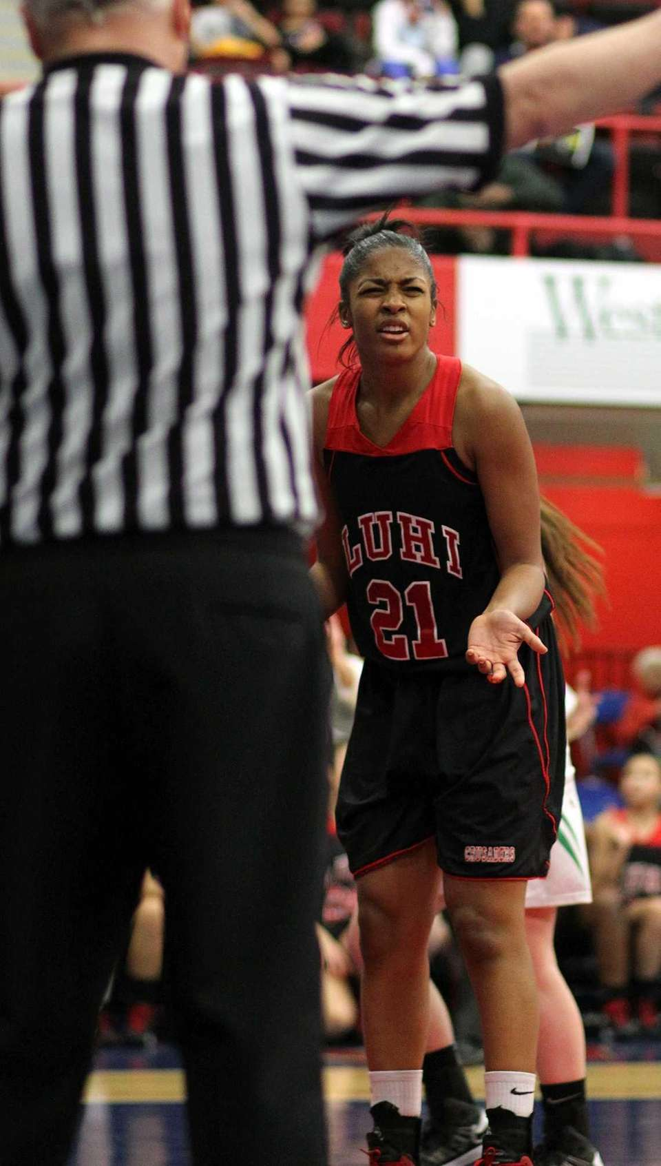 Lutheran's Sade Gibbons questions a call against Irvington