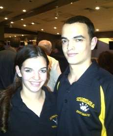 Sewanhaka District twin bowlers Kristina and Nick Genova