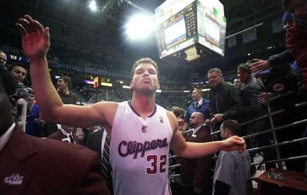 Los Angeles Clippers power forward Blake Griffin walks