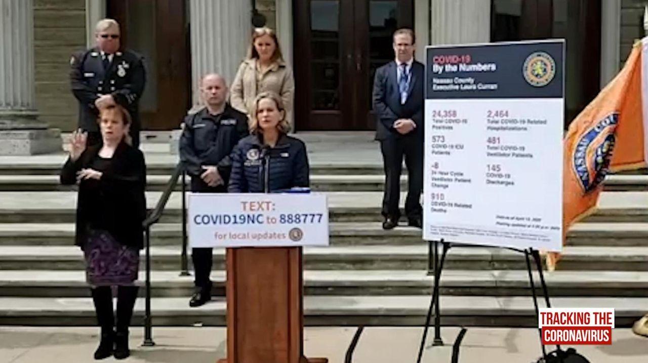 Nassau County Executive Laura Curran held a news