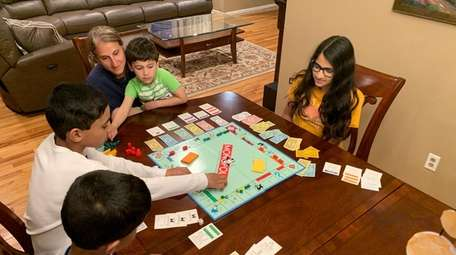 The Norris family of Smithtown plays a friendly