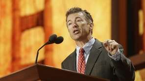 Sen. Rand Paul (R-Ky.) addresses the Republican National