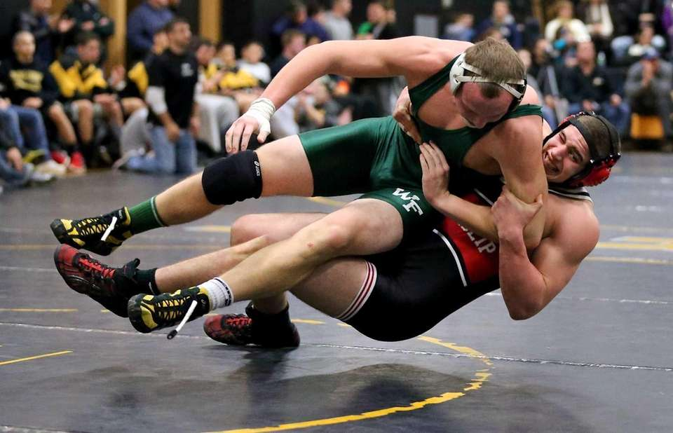 East Islip's Chris Chambers takes down William Floyd's