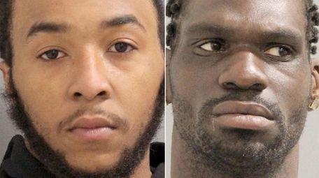 Justin Davis, 21, left, and Barrington Gray, 33.