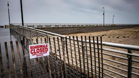 The boardwalk in Long Beach is closed indefinitely.