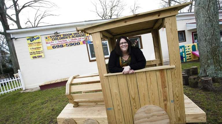 Nadine Boudreau, 36, of Deer Park, has built