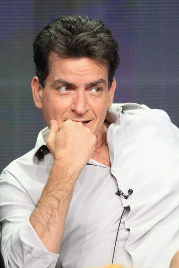 Actor Charlie Sheen speaks onstage at the ?Anger