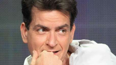 """Actor Charlie Sheen speaks onstage at the """"Anger"""
