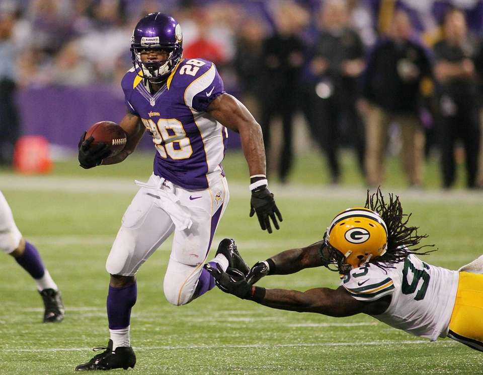 ADRIAN PETERSON,MINNESOTA VIKINGS, 2012: 2,097The most amazing thing