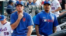 Mets pitcher Steven Matz and Frank Zitaglio, president