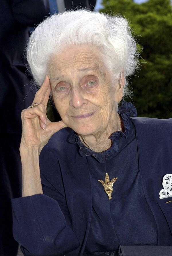 Rome's mayor says biologist Rita Levi-Montalcini, who conducted