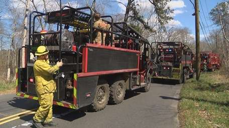 Firefighters from multiple departments battled a blaze in