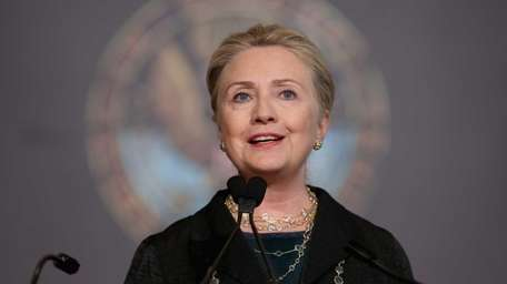 Then-Secretary of State Hillary Rodham Clinton was admitted