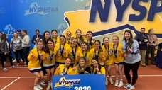 Hauppauge team cheer state championship from the 2020
