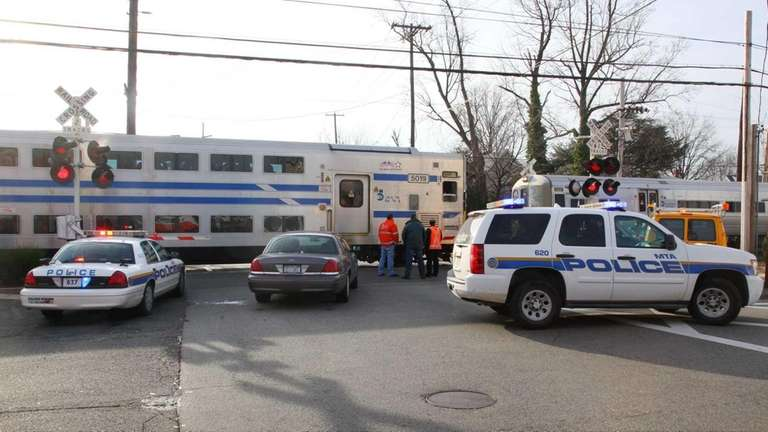 Police investigate after the LIRR says a pedestrian