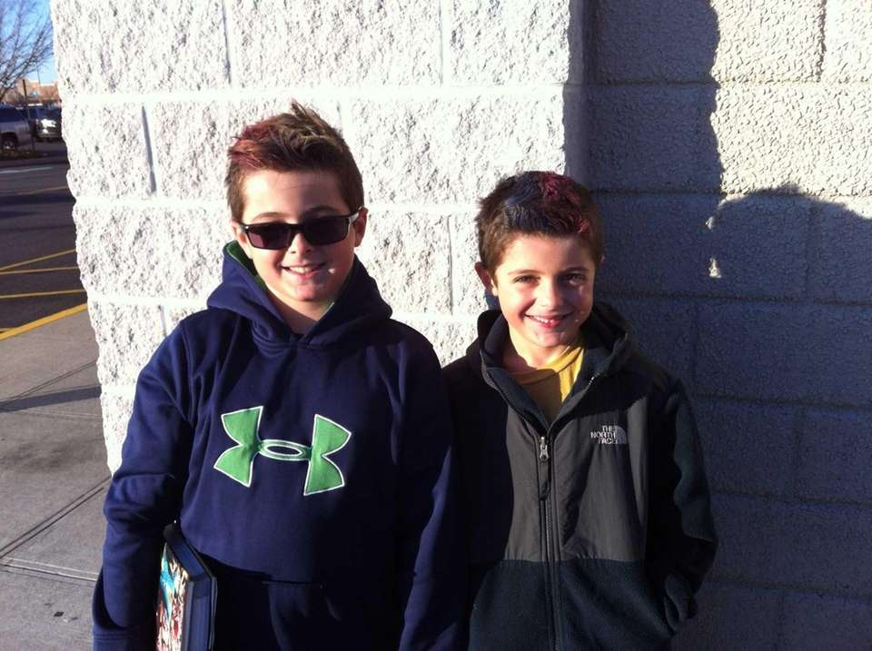 Wantagh's T.J. Behr, 9, left, and brother Tyler