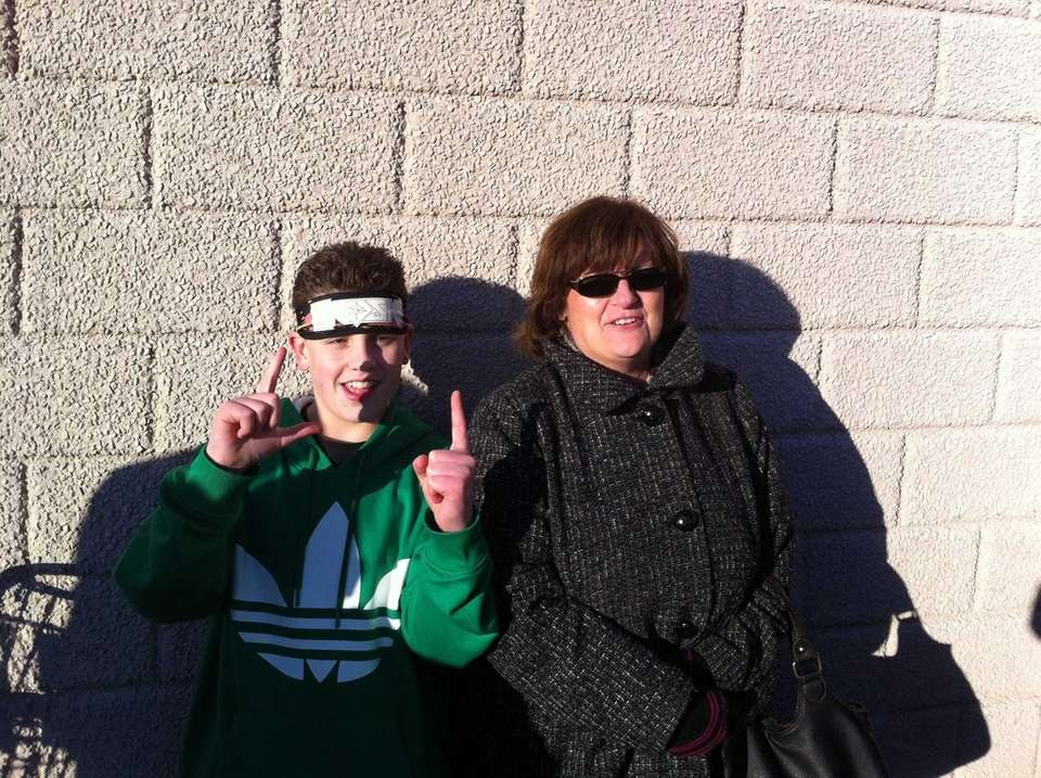 Levittown's Kenny Reilly, 12, with mom Mary Reilly,